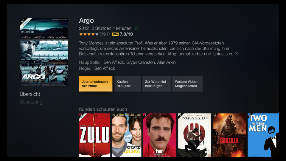 Argo bei Prime Instant Video online