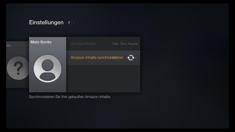 Inhalte mit dem Amazon Fire TV synchronisieren