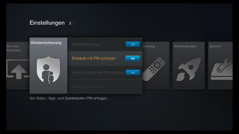 Amazon Fire TV In-App-Käufe ausschaltne
