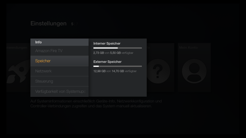 Fire TV Firmware Update USB Speicher