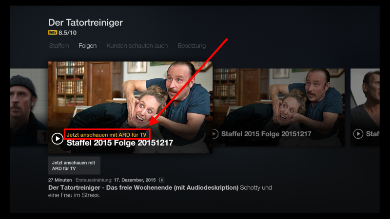 Fire TV Suche andere Apps