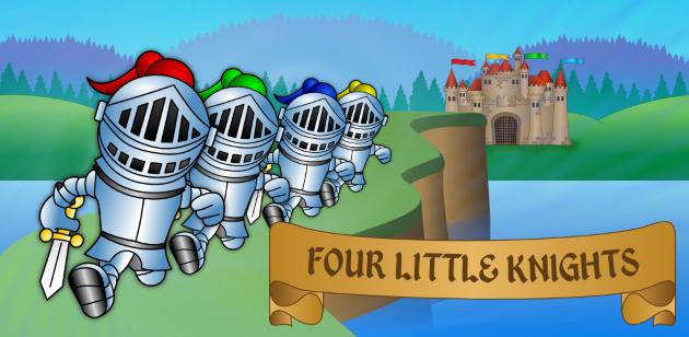 Vier kleine Ritter