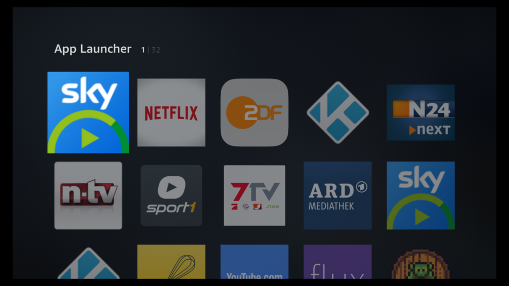 App Launcher Fire TV