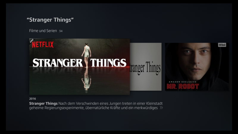Fire TV Sprachsuche Netflix