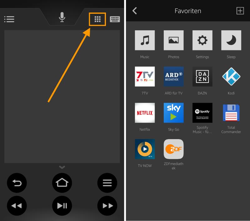 Amazon Fire TV Fernbedienung: App startet jetzt Fire TV-Apps auf Knopfdruck