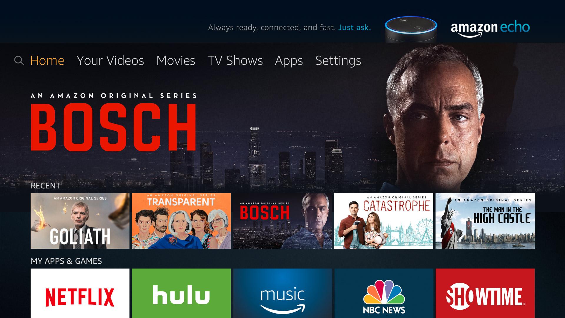 Software Update 5.2.4.0 bringt die neue Benutzeroberfläche auf das Fire TV