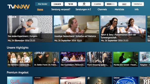 TV Now für Fire TV und Fire TV Stick: RTL Mediathek und Co.