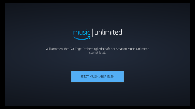 Amazon Music Unlimited Fire TV