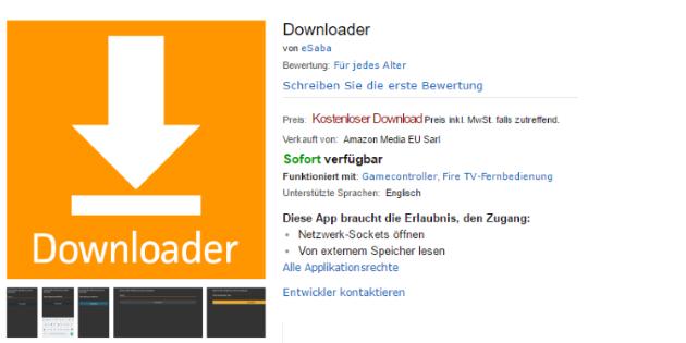 Downloader ist wieder im Amazon App-Shop