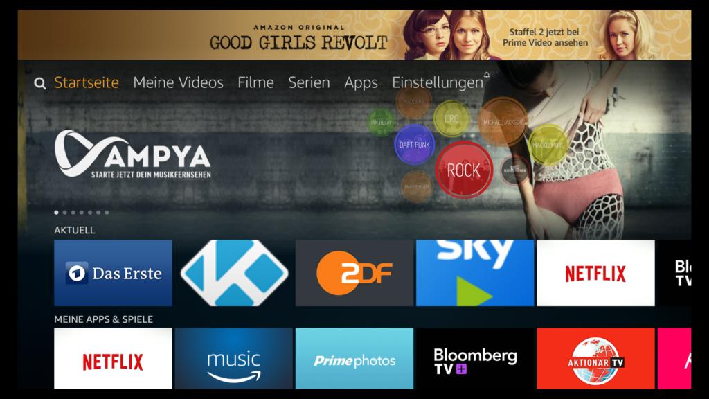 Update 5.2.4.0 mit der neuen Fire TV Oberfläche wird in Deutschland verteilt