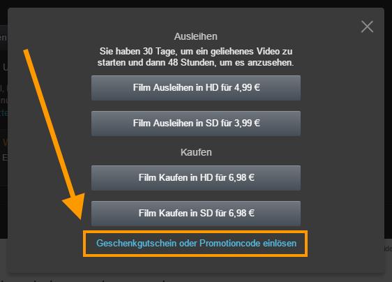 Amazon Video Gutschein: Einen Film nach Wahl für nur 99 Cent leihen