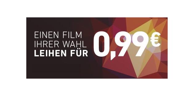 Letzte Chance: Nur noch heute einen Film nach Wahl für nur 99 Cent leihen