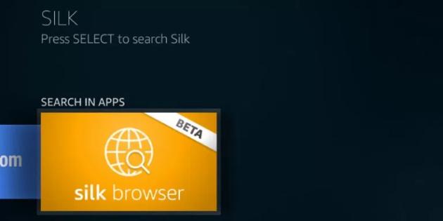 Amazon Silk Browser lässt sich auf dem Fire TV blicken