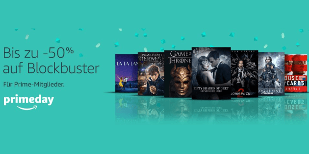 Prime Day: Bis zu 50% Rabatt auf Blockbuster bei Amazon Video