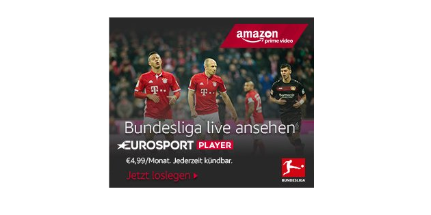 Bundesliga live für Amazon Prime-Mitglieder: Eurosport Player neu bei Amazon Channels