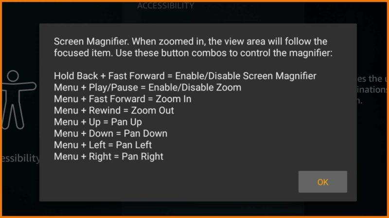 Fire TV Update 5.2.6.0: Spracheingabe für die Tastatur und Bildschirmlupe