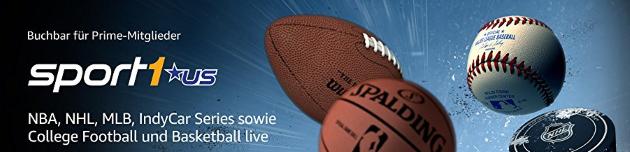 Sport 1 US & EDGEsport: Zwei neue Amazon Channels für Sport-Fans