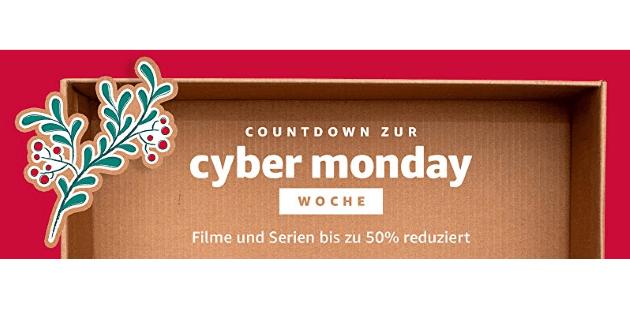 Countdown zur Cyber Monday Woche 2017: Jede Menge Filme und Serien reduziert