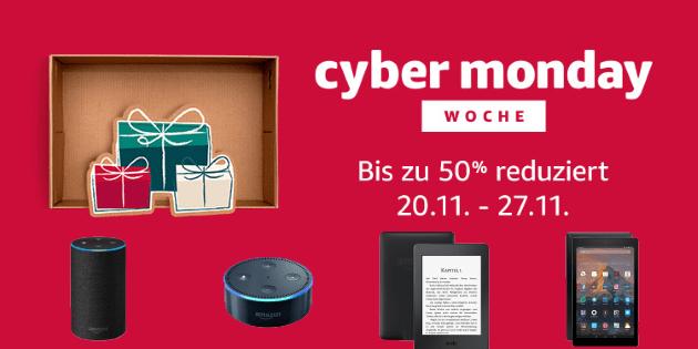Cyber Monday Woche 2017: Ab Montag gibt es den neuen Echo, Echo Plus und Echo Dot günstiger