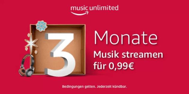 Zum Ausprobieren: 3 Monate Amazon Music Unlimited für nur 99 Cent