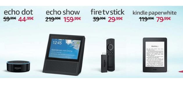 Bis zu 33%: Fire TV 3, Fire TV Stick und Echo-Geräte kräftig reduziert