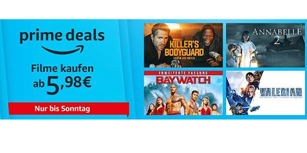 Prime Deals: 12 verschiedene Blockbuster ab 5,98€ kaufen