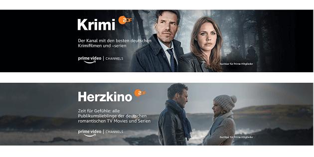 Neue Amazon Prime Video Channels: ZDF Krimi und ZDF Herzkino ab sofort buchbar