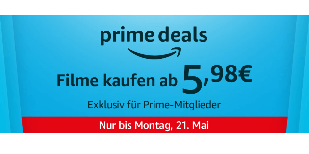 Prime Deals: Zehn verschiedene Filme ab je 5,98€ kaufen