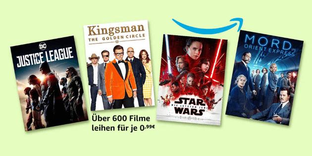 Filmfreitag XXL: Über 600 (!) Filme für je nur 0,99 € leihen