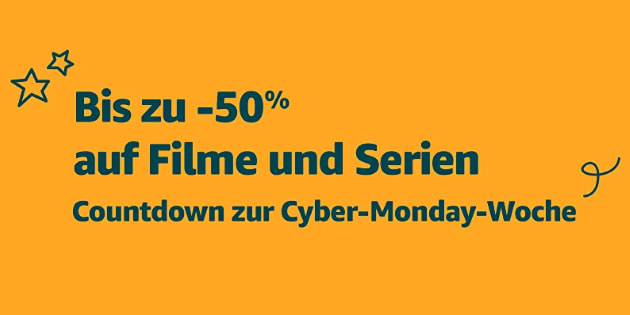 Countdown zur Cyber Monday Woche 2018: Bis zu 50 % Rabatt auf eine riesige Auswahl von Filmen und Serien
