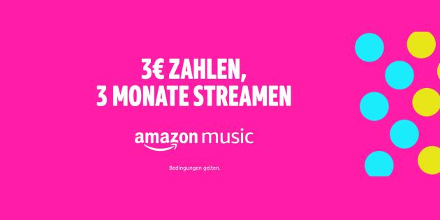 Musik für die ganze Familie: 3 Monate Amazon Music Unlimited für nur 3 Euro testen