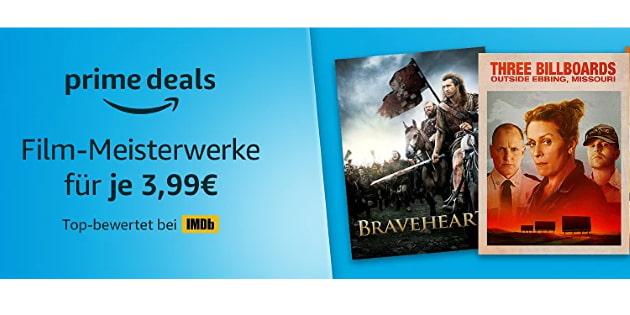 Prime Deals: Jede Menge Film-Meisterwerke für je 3,99 Euro kaufen