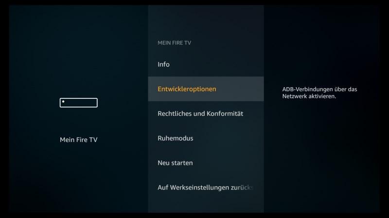 Kodi auf dem Fire TV Stick und Fire TV installieren - Schritt für Schritt Anleitung (Stand 2019) - Entwickleroptionen