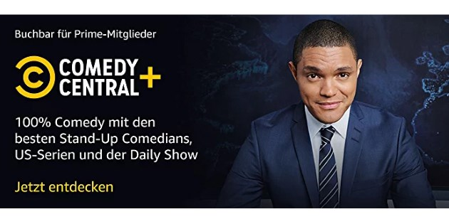 Comedy Central+: Neuer Prime Video Channel ab sofort buchbar