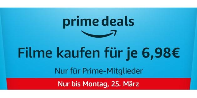 Prime Deals: 12 verschiedene Filme für jeweils nur 6,98 € kaufen