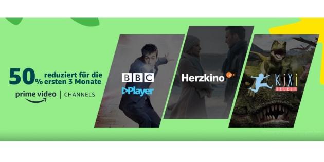 50 % Rabatt: Ausgewählte Prime Video Channels 3 Monate lang deutlich günstiger buchen