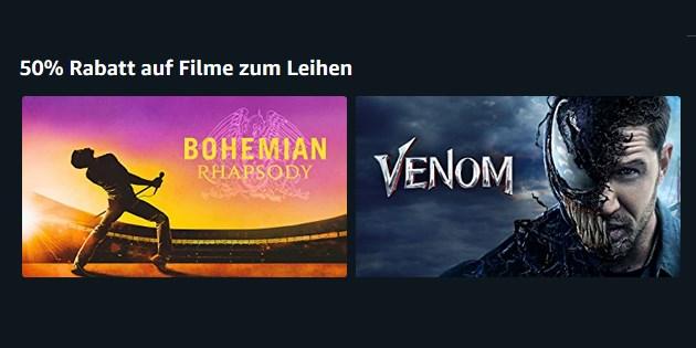 Bohemian Rhapsody und mehr: Aktuelle Filme deutlich günstiger leihen
