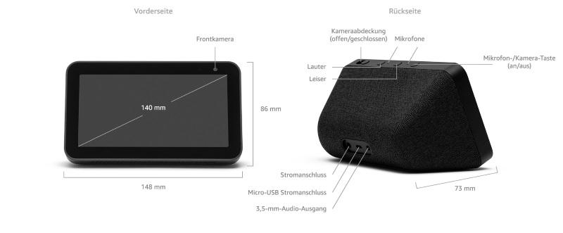 Für nur 90 Euro erhältlich: Der neue Amazon Echo Show 5