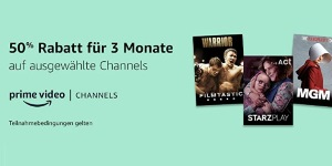 Prime Video Channels 50 Prozent Rabatt