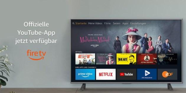Endlich: Die offizielle YouTube App für Fire TV Stick und Fire TV ist wieder da!