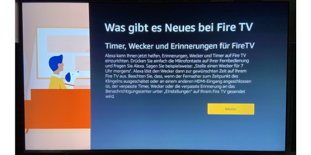 Amazon Fire TV und Fire TV Stick unterstützen jetzt Erinnerungen, Wecker und Timer