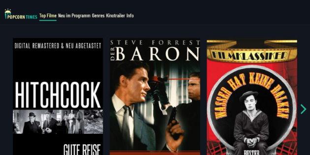 Popcorntimes: Kostenloser Streaming-Dienst startet mit Filmklassikern
