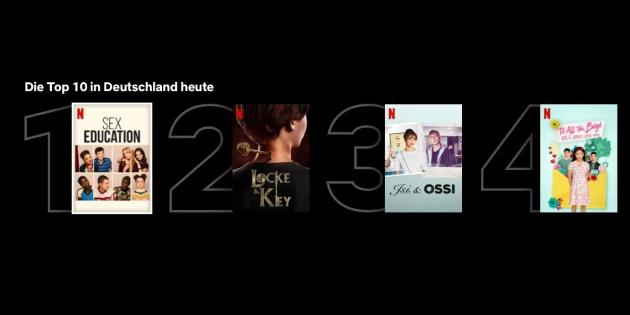 Netflix: Neue Top-10-Listen laden zum Entdecken der beliebtesten Serien und Filme sein