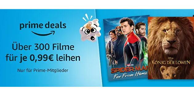 Mehr als 300 verschiedene Filme für jeweils nur 0,99 Euro leihen