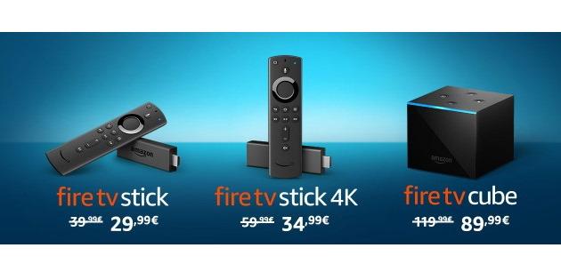 Günstige Hardware: Amazon Fire TV Stick 4K, Fire TV Stick 2 und Fire TV Cube wieder kräftig reduziert