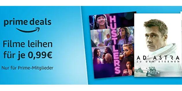 Amazon Prime Video: Riesige Auswahl an Leihfilmen für jeweils nur 0,99 €