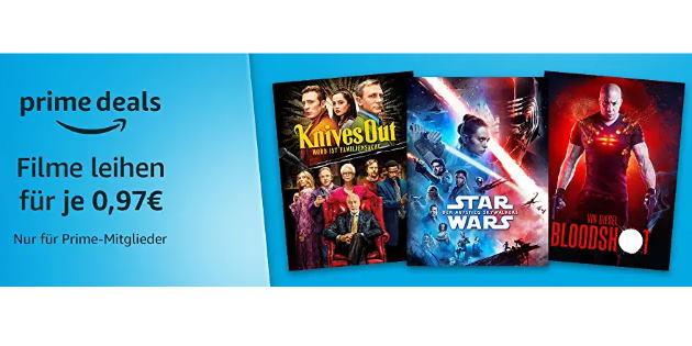 Prime Deals: 30 verschiedene Filme für je nur 0,97 Euro leihen