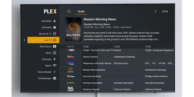 Plex zeigt jetzt über 80 Live-TV-Kanäle