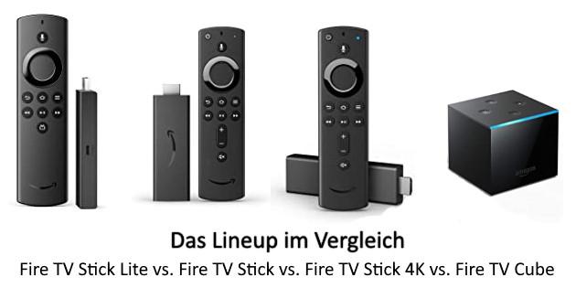 Das neue Lineup im Vergleich: Fire TV Stick Lite vs. Fire TV Stick vs. Fire TV Stick 4K vs. Fire TV Cube
