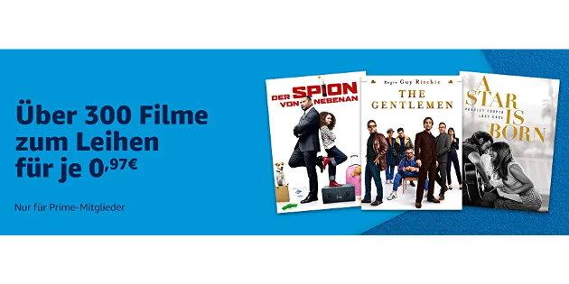 Prime Deals im XXL-Format: Über 300 Filme jetzt für jeweils nur 0,97 € leihen
